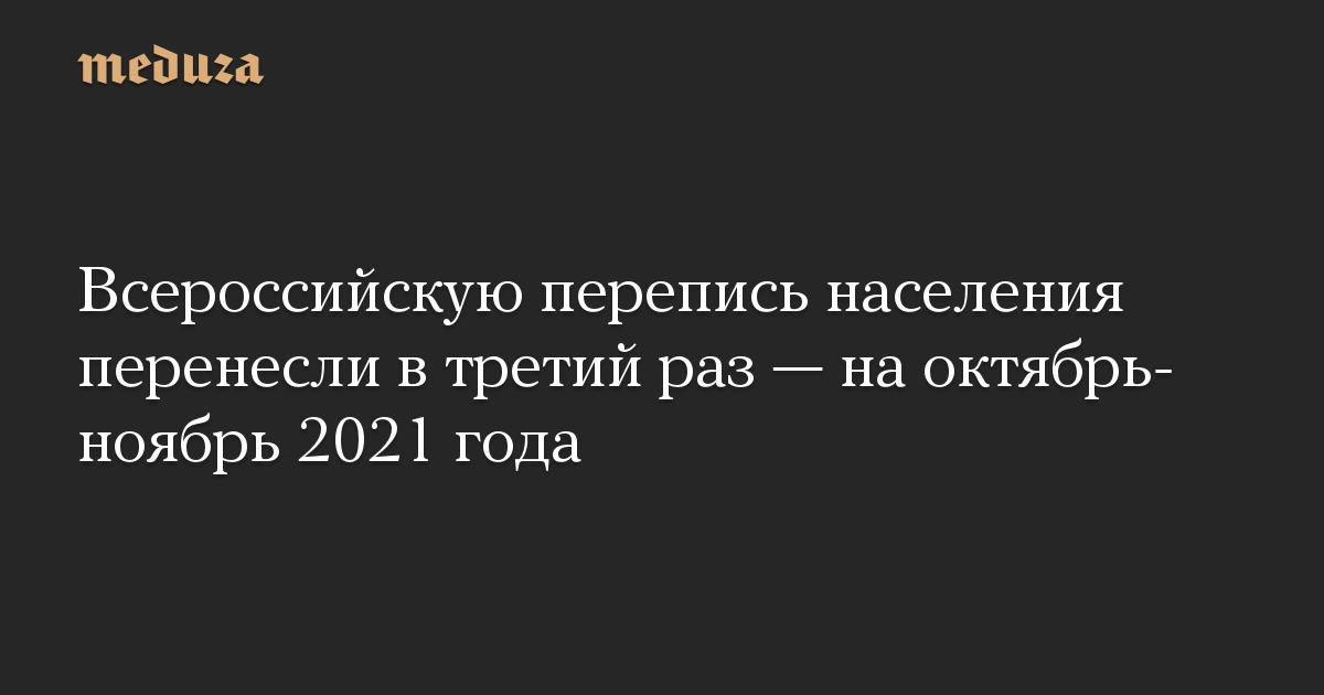 Всероссийскую перепись населения перенесли в третий раз  на октябрь-ноябрь 2021 года