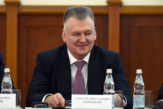 Alexey Dorofeyev, head of the Moscow FSB Directorate, attends an extended session of the Moscow Interior Ministry's Collegium, reviewing the results of 2017. Meeting held on January 25, 2018.