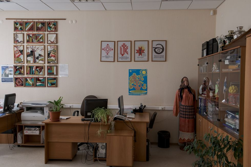 The specialists' office in Izhevsk's House of the Friendship of Peoples.