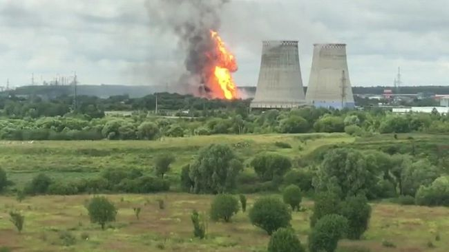 One Dead, 13 Injured In Large Fire Near Power Plant Outside Moscow