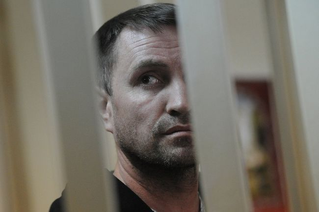 Moscow, May 19, 2016. Former Khovanskoye Cemetery manager Yuri Chabuev, suspected of organizing the violence at the cemetery on May 14, 2016. Photo taken at his arraignment in Moscow's Presnensky District Court.