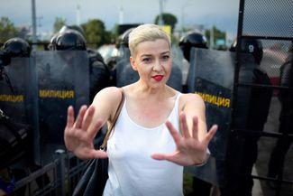 Мария Колесникова — член президиума Координационного совета белорусской оппозиции, лидер штаба Виктора Бабарико. Колесникова — единственный лидер оппозиции, оставшийся в стране. В сентябре 2020 года ее задержали и до сих пор держат под арестом