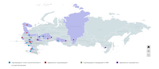 "The ""Grey Zone"" project's interactive map of the coronavirus outbreak in the Russian prison system"