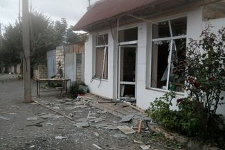 Martuni after the shelling. October 1, 2020