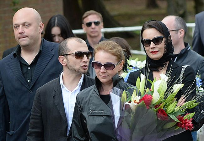Demian Kudriavtsev at the funeral for Boris Berezovsky in London, August 5, 2013