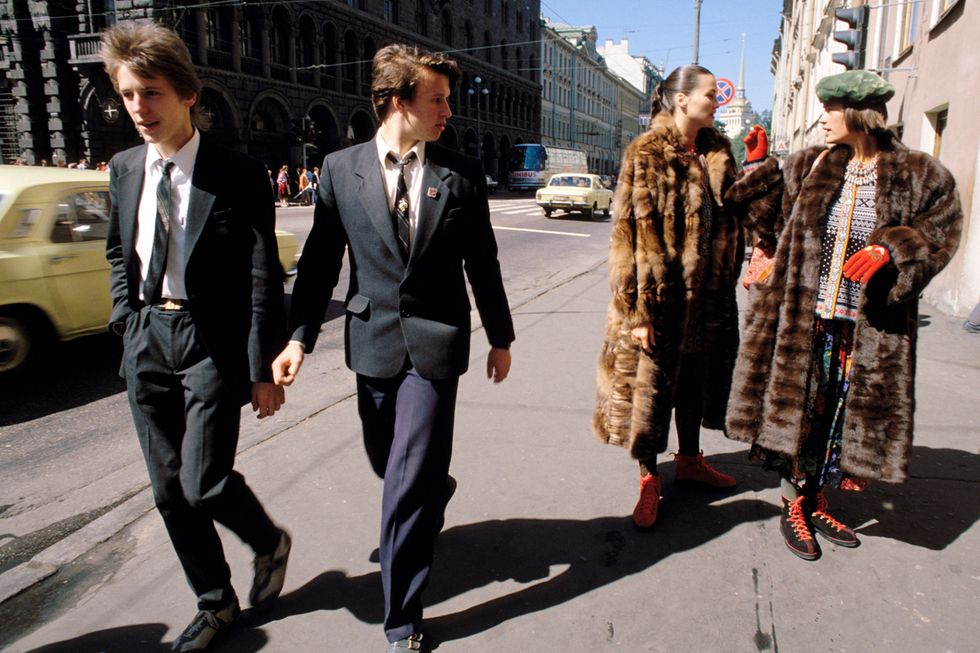 Fashionable youngsters in Leningrad, 1987.