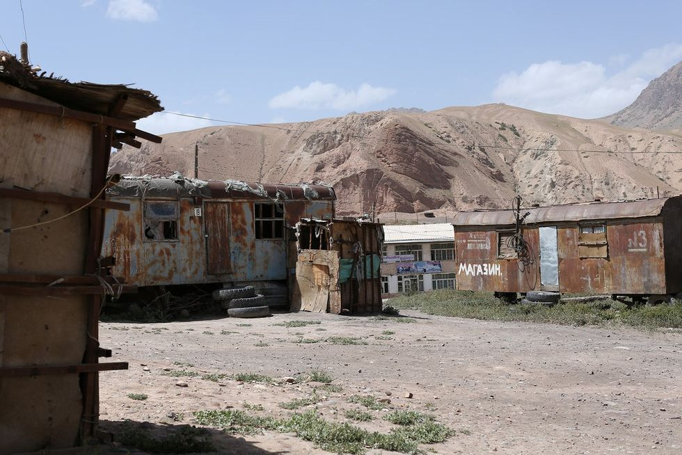 A Kyrgyz village near the border with Xinjiang, summer 2018