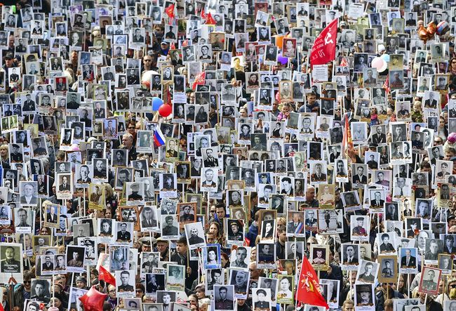 The Immortal Regiment memorial march in Vladivostok. May 9, 2018