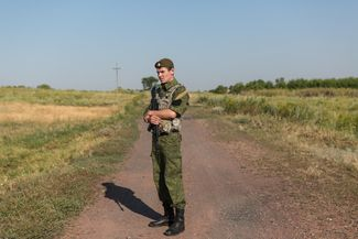 The MH17 crash site in the vicinity of Grabovo
