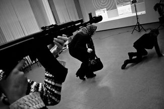 A shooting gallery in a St Petersburg high school in 2010.