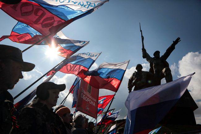 Шествие вчесть референдума оприсоединении Крыма кРоссии. Севастополь, 18марта 2017 года