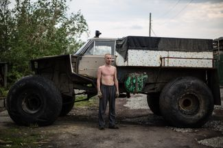 "For off-road trips to the tundra for hunting and fishing, locals build homemade all-terrain vehicles, ""karakaty."""