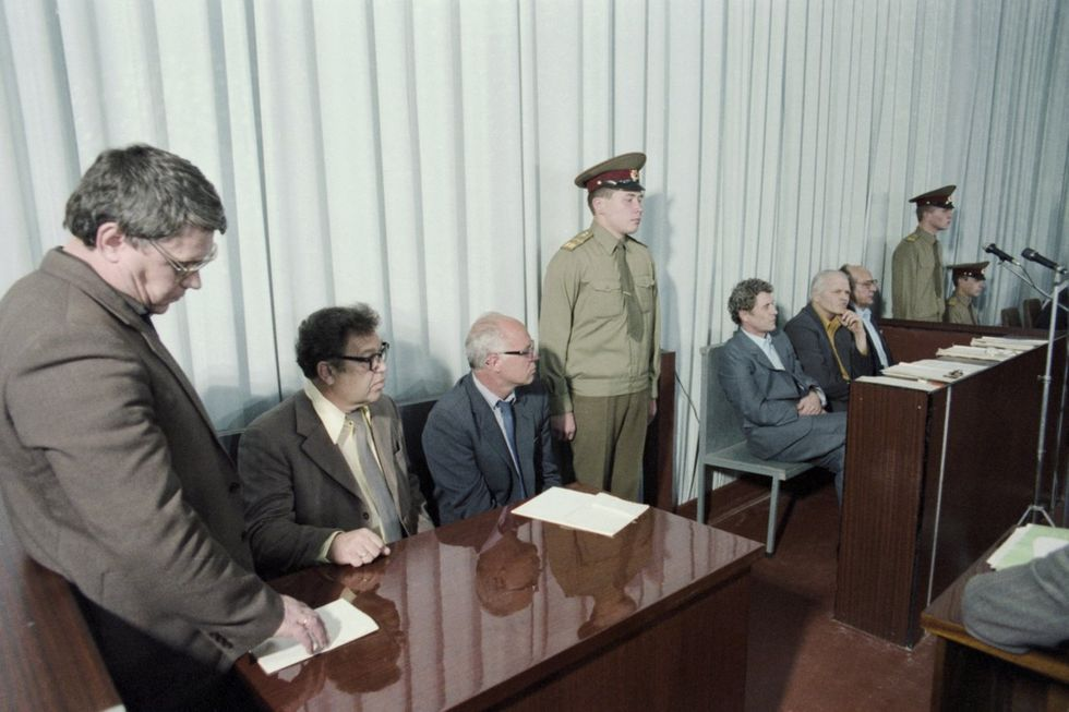 The trial against the managers of the Chernobyl nuclear power plant, July 1, 1987